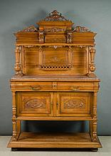 LOUIS XVI STYLE CARVED WALNUT SIDEBOARD, French,