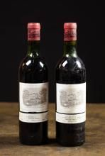 TWO BOTTLES OF VINTAGE FRENCH RED BORDEAUX WINE, C