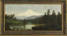ATTRIBUTED TO ELIZABETH PARROTT POND OIL ON CANVAS
