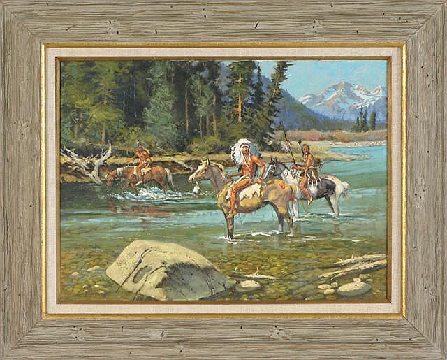 HAROLD HOPKINSON OIL ON CANVAS (Wyoming,