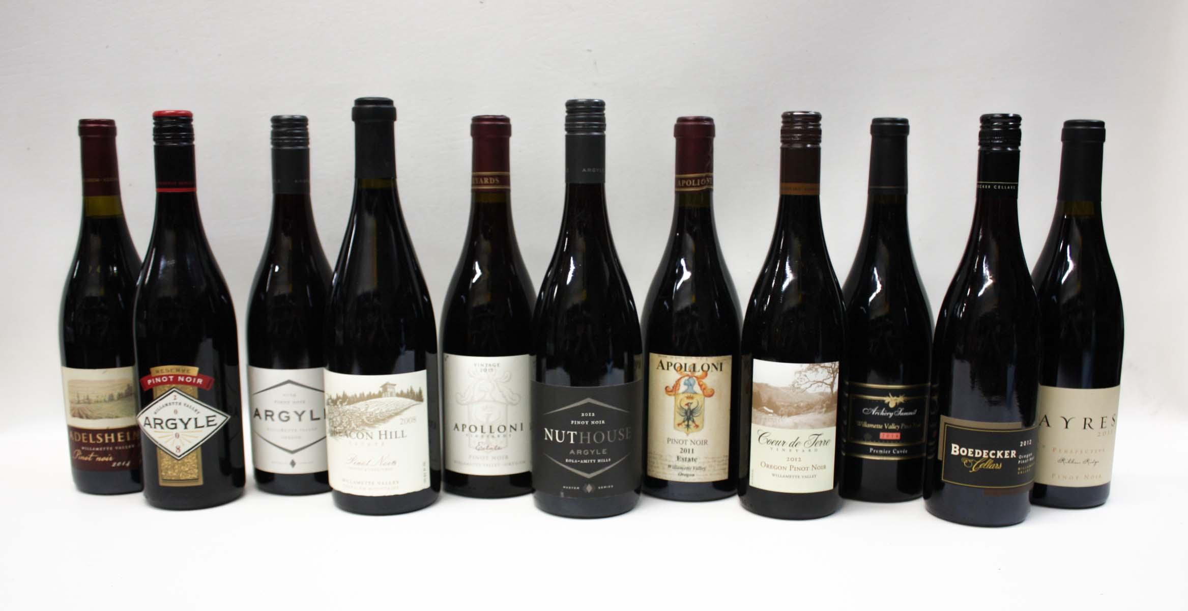 NINETEEN BOTTLES OF VINTAGE OREGON RED WINE: 2012