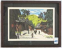 KIYOSHI SAITO (Japanese, 1907-1997) woodblock print,