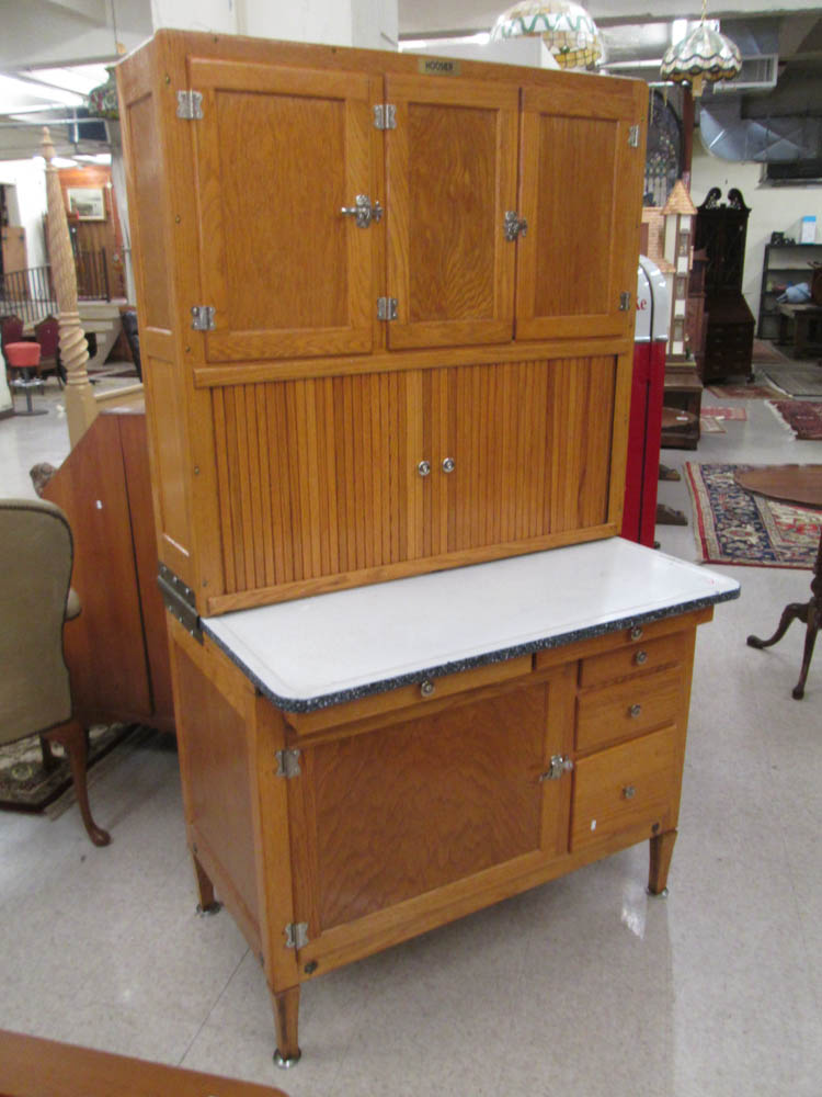 An Oak Kitchen Cabinet Attributed To The Hoosier