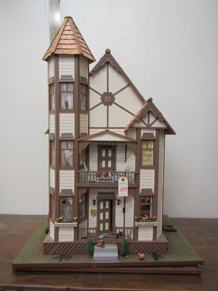 Victorian style three story dollhouse with furnish for 3 story victorian house