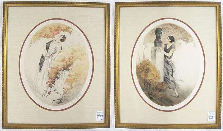 JEAN HARDY TWO ETCHINGS AND AQUATINTS (French,