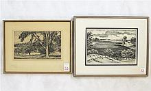 TWO COLLECTIBLE SIGNED ORIGINAL PRINTS: Adolph