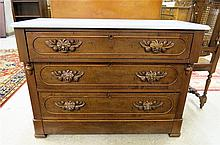 VICTORIAN WALNUT CHEST OF DRAWERS, American, c.
