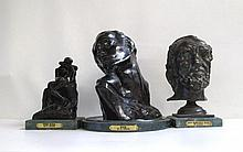THREE BRONZE SCULPTURES AFTER AUGUSTE RODIN