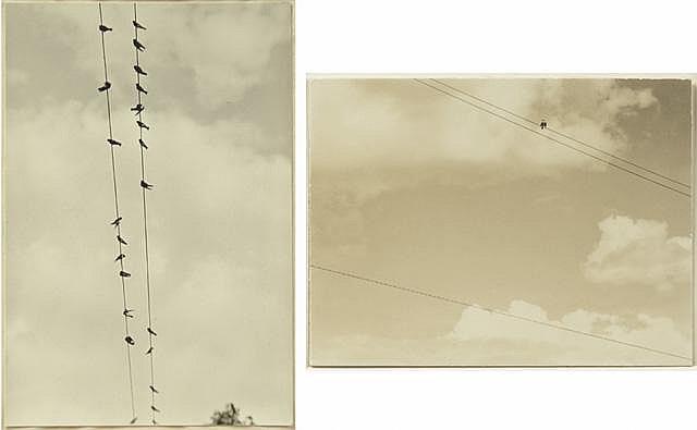 ALFRED STIEGLITZ, TWO SILVER GELATIN PHOTOGRAPHS