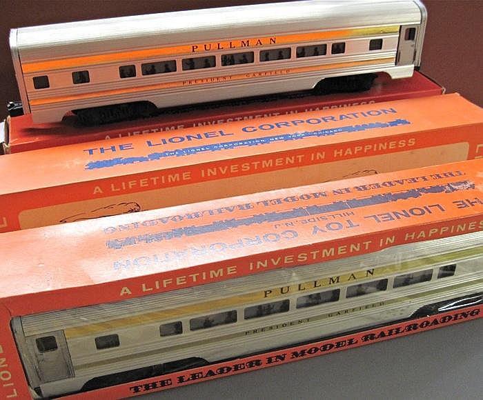 FOUR LIONEL PASSENGER TRAIN CARS, including; No.