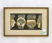 KIYOSHI SAITO (1907-1997 Japan) MODERNIST JAPANESE