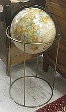 REPLOGLE WORLD GLOBE ON FLOOR STAND, a World