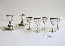SEVEN STERLING SILVER HOLLOWWARE PIECES: set of 5