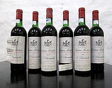 SIX BOTTLES OF VINTAGE FRENCH RED BORDEAUX, 1967