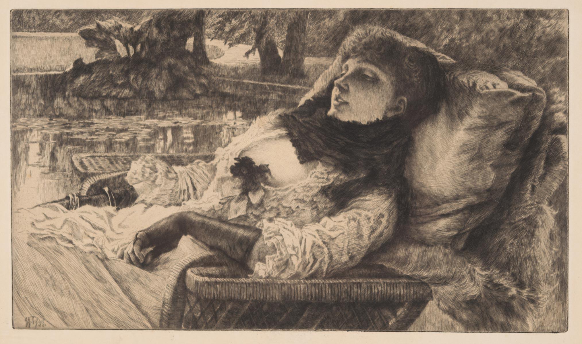 JAMES TISSOT (France/England, 1836-1902) etching,