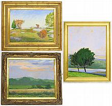 JOHN G. MACGOWAN, THREE OIL PAINTINGS (Rhode
