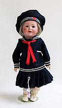 J.D. KESTNER BISQUE SOCKET HEAD CHARACTER DOLL,