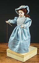 PETITE GERMAN DOLL attributed to Gebruder Heuback,