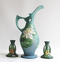 THREE ROSEVILLE ART POTTERY PIECES