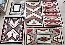 FIVE NAVAJO WEAVINGS: 27