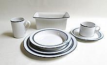 SET OF DANSK DINNERWARE, BISTRO PATTERN, 59 PIECES