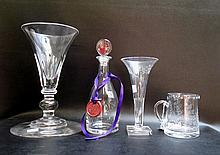 FOUR WILLIAM HOWARD CRYSTAL TABLEWARE PIECES