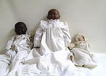 THREE BISQUE HEAD BABY DOLLS: 2 Bye-Lo dolls, by