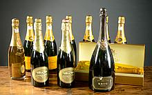 THIRTEEN BOTTLES OF FRENCH CHAMPAGNE: one each