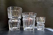 THREE BACCARAT CRYSTAL VASES