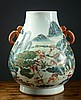 Image 2 for CHINESE PORCELAIN VASE, a Hu-shaped vessel with