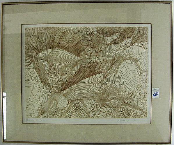 GUILLAUME AZOULAY ETCHING ON PAPER (Morocco, born