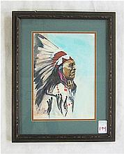 RALPH CRAWFORD WATERCOLOR ON PAPER (Idaho, 20th