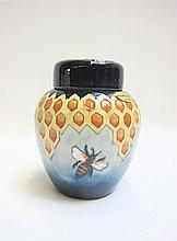 MOORCROFT POTTERY GINGER JAR, hand painted under