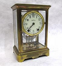 CRYSTAL REGULATOR MANTEL CLOCK, Seth Thomas Clock