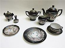 37 PIECES MORIAGE DRAGONWARE DINNER SERVICE with