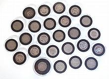 U.S. NICKEL THREE-CENT PIECE COLLECTION, 24 coins,