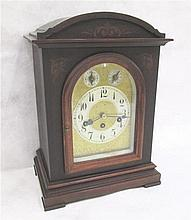 MAHOGANY CASED BRACKET CLOCK, Junghans Clock Co.,