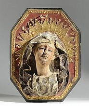 ICONIC MADONNA WALL PLAQUE having high relief