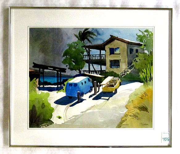 JEROME PRIEBE GASTON WATERCOLOR ON PAPER