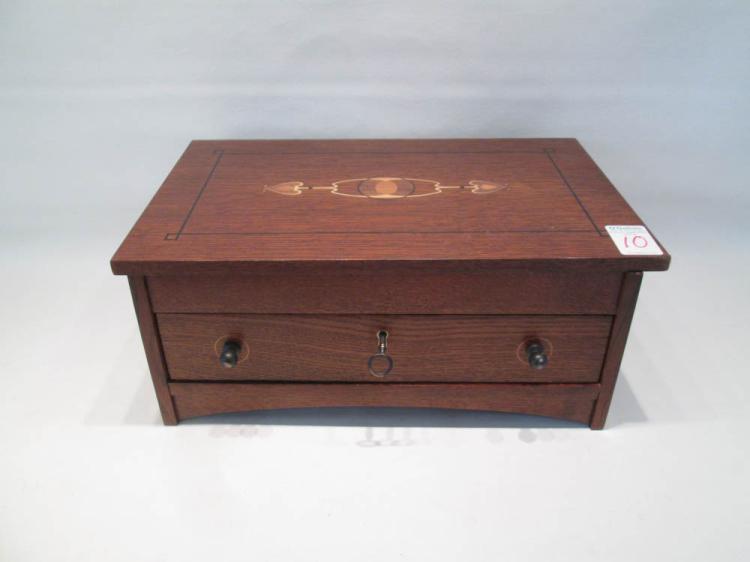 stickley oak harvey ellis jewelry box l j g stickley co