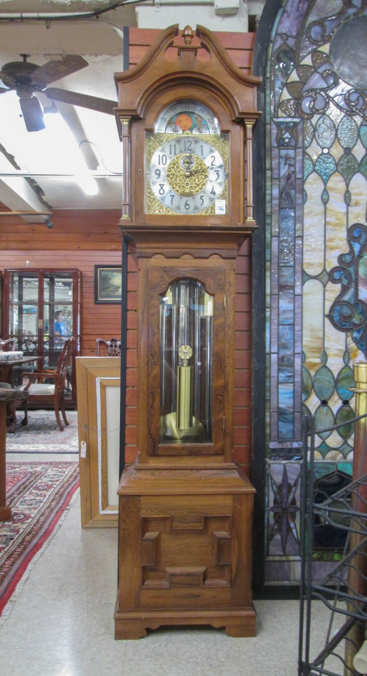 Rosewood cased grandfather floor clock with herschede 3 wei for Rosewood custom homes