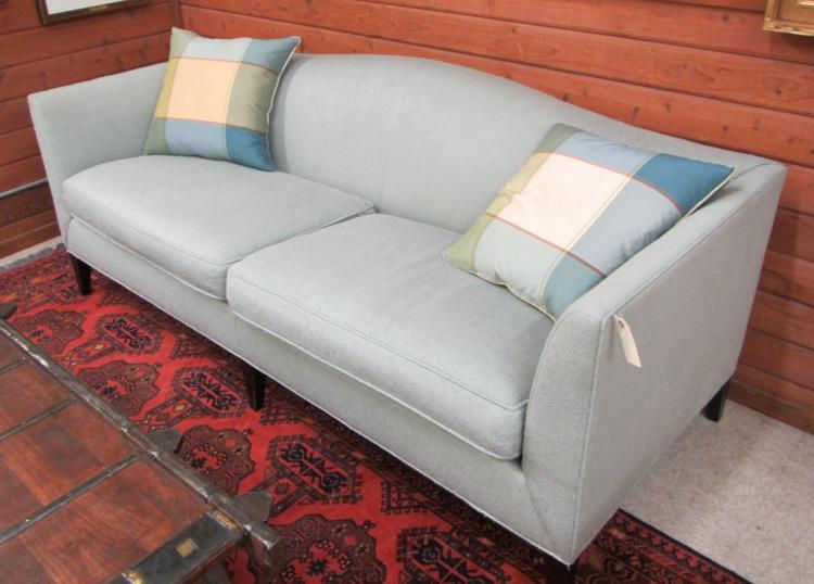 Baker Silk Upholstered Sofa Baker Furniture Co