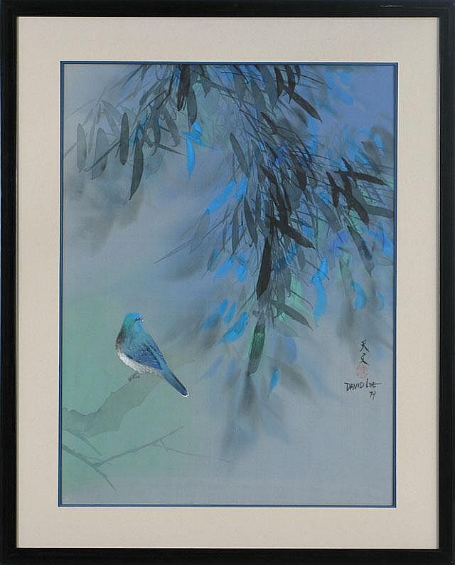 DAVID LEE WATERCOLOR ON SILK (Canton, China born