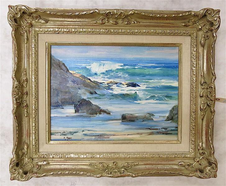 MARIE MARTIN OIL ON CANVAS (California/Oregon, born 1940)