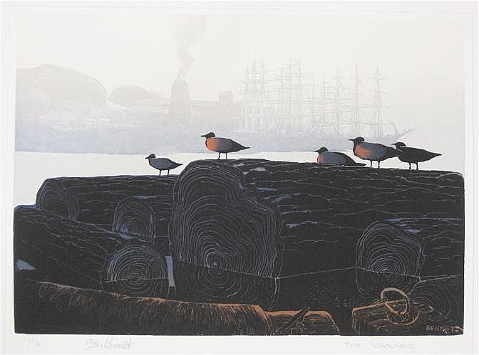 ELTON BENNETT SERIGRAPH (Washington, 1911-1974)