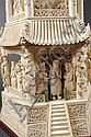 Image 3 for A MONUMENTAL CHINESE CARVED IVORY PAGODA TOWER,