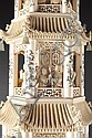 Image 5 for A MONUMENTAL CHINESE CARVED IVORY PAGODA TOWER,