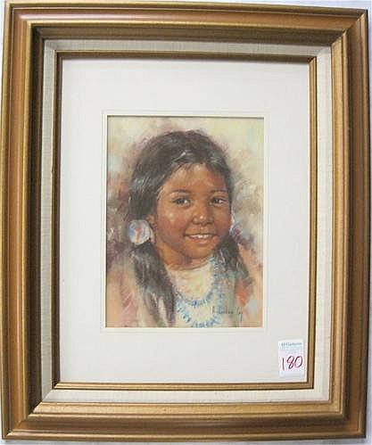 ARLENE HOOKER FAY PASTEL ON PAPER (Montana,