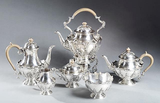 SIX PIECE SET ENGLISH STERLING TEA & COFFEE