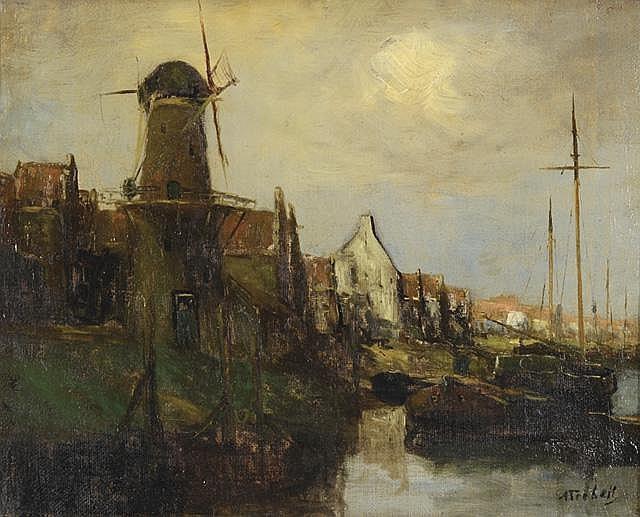 ADRIAAN TERHELL OIL ON CANVAS (Dutch, 1863-1949)